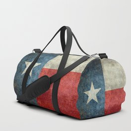 Texas flag, Retro style Vertical Banner Duffle Bag