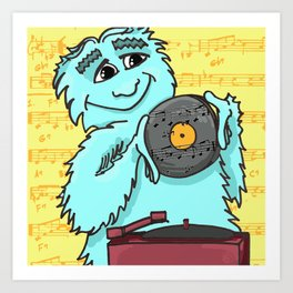 Jazz loving Yeti Art Print