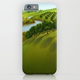 Classical Masterpiece 'The Plains' by Grant Wood iPhone Case