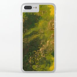 Green As The Sea Clear iPhone Case