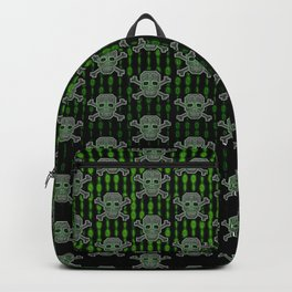 Hacker Skull Crossbones (pattern version) Backpack