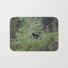 Black bear in a tree in Jasper National Park | Canada Bath Mat