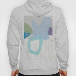 stone by stone 2 - abstract art fresh color turquoise, mint, purple, white, gray Hoody
