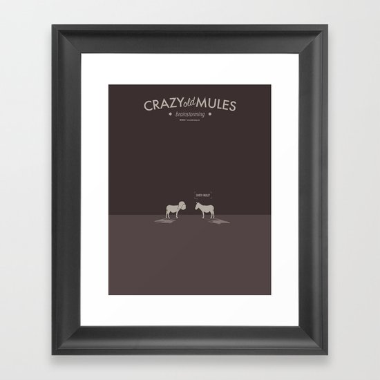 Crazy old Mule / Darth Mule Framed Art Print