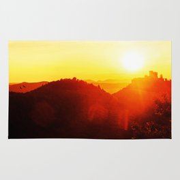 Scenic landscape and sundown Rug