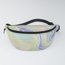 Colorful Brush Marble Abstract Art Design Fanny Pack