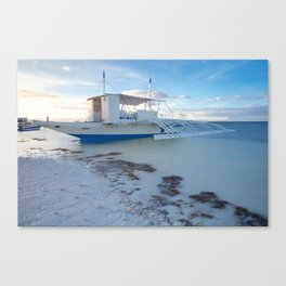 Traditional Filipino boat on the beach, Philippines Canvas Print