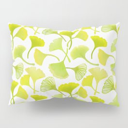 First Day of Autumn Ginkgo Leaves Pillow Sham