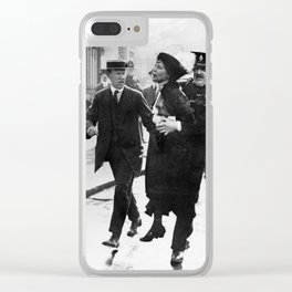 Suffragette Emmeline Pankhurst Being Arrested (May 1914) Clear iPhone Case