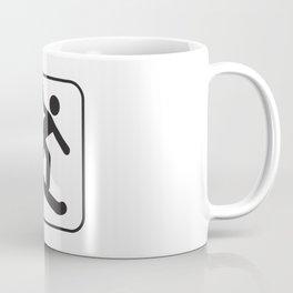 Snowboarding  Down Hill Icon Coffee Mug