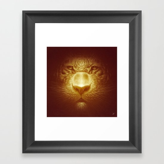 Gold Tiger Framed Art Print