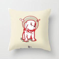 Space Puppy Throw Pillow