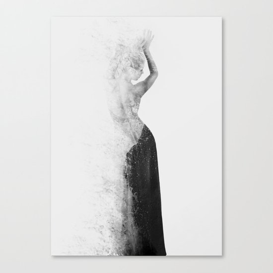 Inconspicuousness 2 (Black & White) Canvas Print