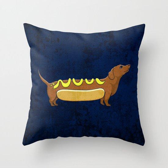 Wienerdog Throw Pillow