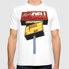 Sandwich shop sign White Mens Fitted Tee SMALL