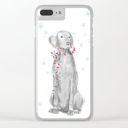 CHRISTMAS IS ALL AROUND YOU Clear iPhone Case