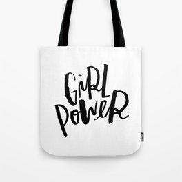 Brush Lettered Girl Power Tote Bag