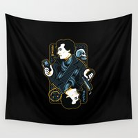 221b Wall Tapestries featuring The Detective of 221B by WinterArtwork