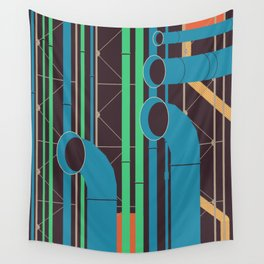 Pompidou - Famous Buildings Wall Tapestry
