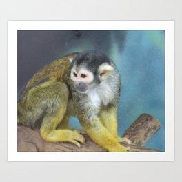 Yellow Monkey Art Print