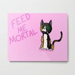 Molly the Evil Cat Metal Print