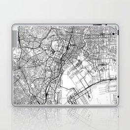 Tokyo White Map Laptop & iPad Skin