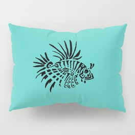 Poisson lion - turquoise Pillow Sham