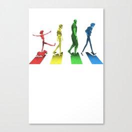 Stray Dog Strut Canvas Print