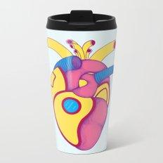 Yellow Submarine Heart Metal Travel Mug