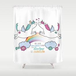 La licorne zigouilleuse Shower Curtain