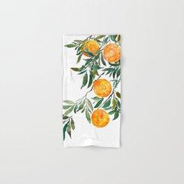 orange watercolor Hand & Bath Towel