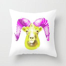 Aries Ram Throw Pillow