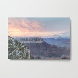 Grand Canyon Sunset: As the fog lifts Metal Print