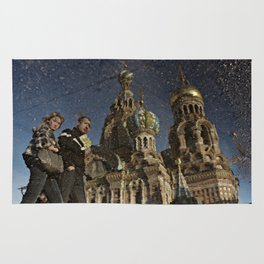 The Church of the Savior on Spilled Blood, St.Petersburg, Russia. Rug
