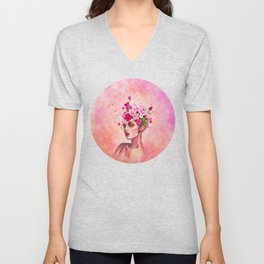 Peachy Unisex V-Neck