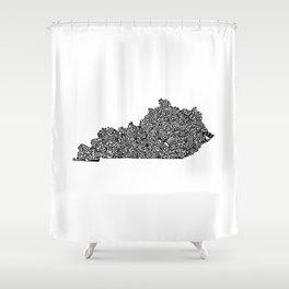 Typographic Kentucky Shower Curtain