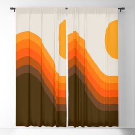 Golden Horizon Diptych - Left Side Blackout Curtain