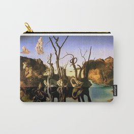 Swans Reflecting Elephants - Salvador Dali Carry-All Pouch