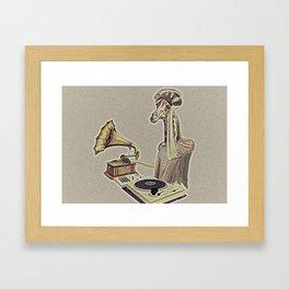 Retro DJ Framed Art Print