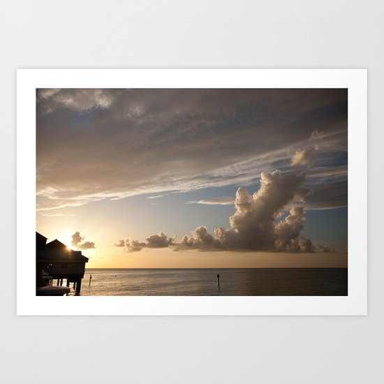 Clearwater Sunset Art Print