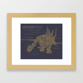 Zoids: Liger Zero Schneider Framed Art Print