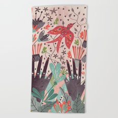 Spring Bird Beach Towel