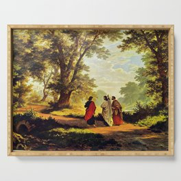 Road To Emmaus Serving Tray