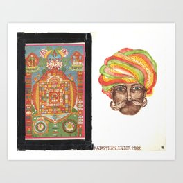 Tantric 5 (Travel Journal Entry) Art Print