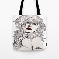 Debbie with Red Lips Tote Bag