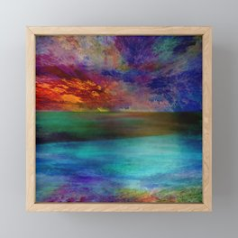 Ocean at Sunset Framed Mini Art Print