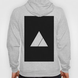 Triangle Minimal Deep Cut Black Hoody