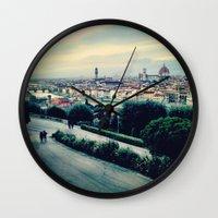 florence Wall Clocks featuring Florence by Rachel Weissman