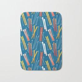 Colorful Ski Pattern Bath Mat