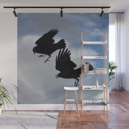 wild crows Wall Mural